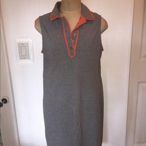 Lands End sleeveless knit dress